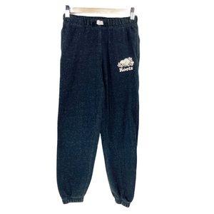 Roots Kids Size 8 Black Pepper Sweatpants Joggers